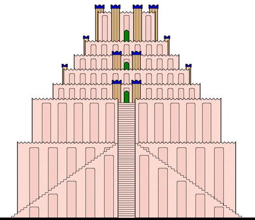 バベルの塔のモデル